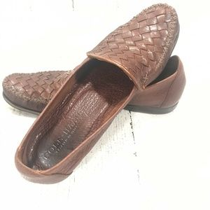 Cole Haan Italy Narrow Weaved Leather Loafers
